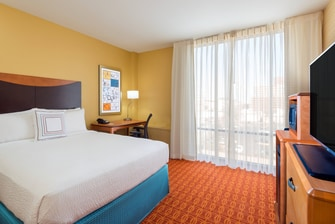 Downtown Louisville Hotel Room
