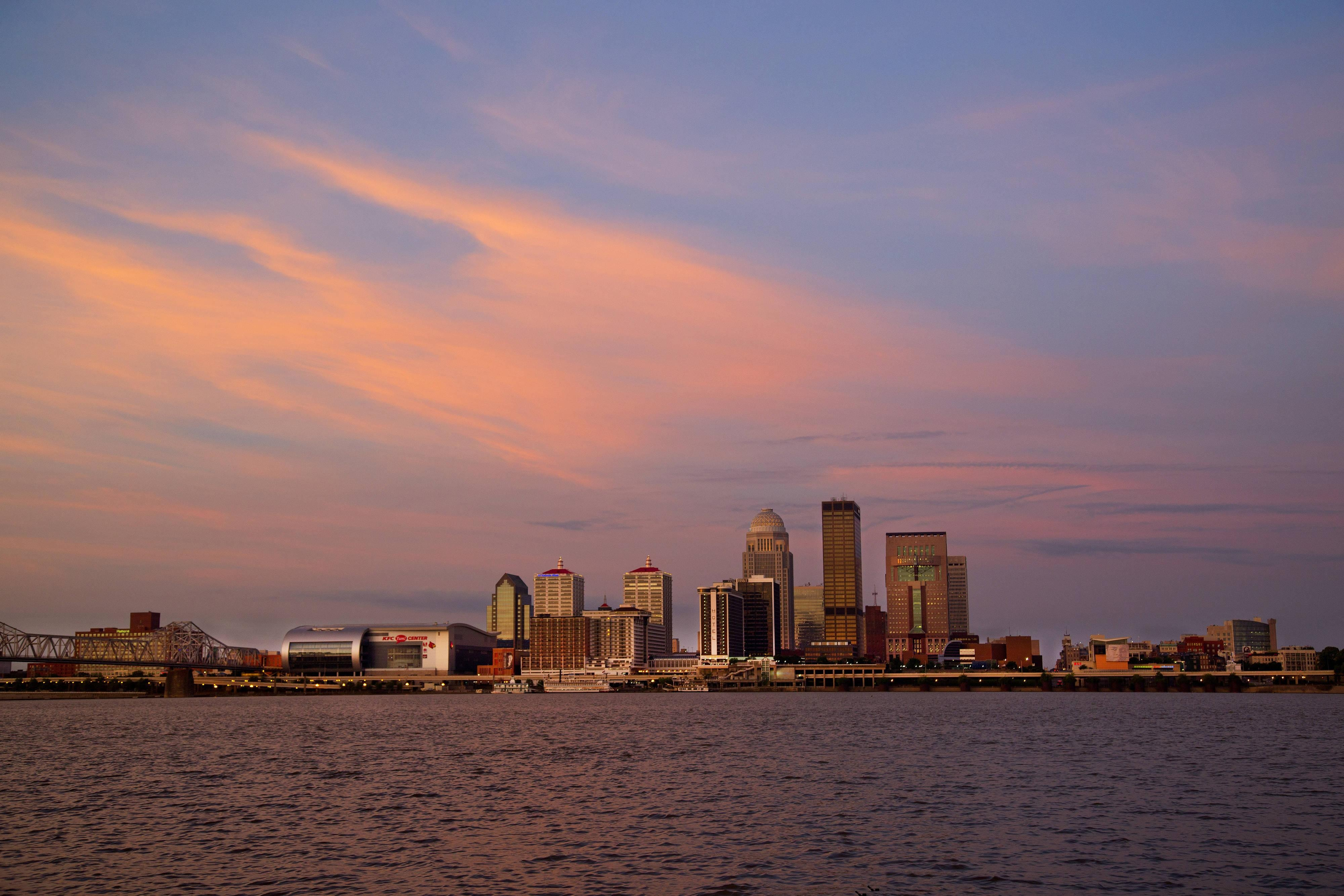 Louisville KentuckySkyline at Dawn