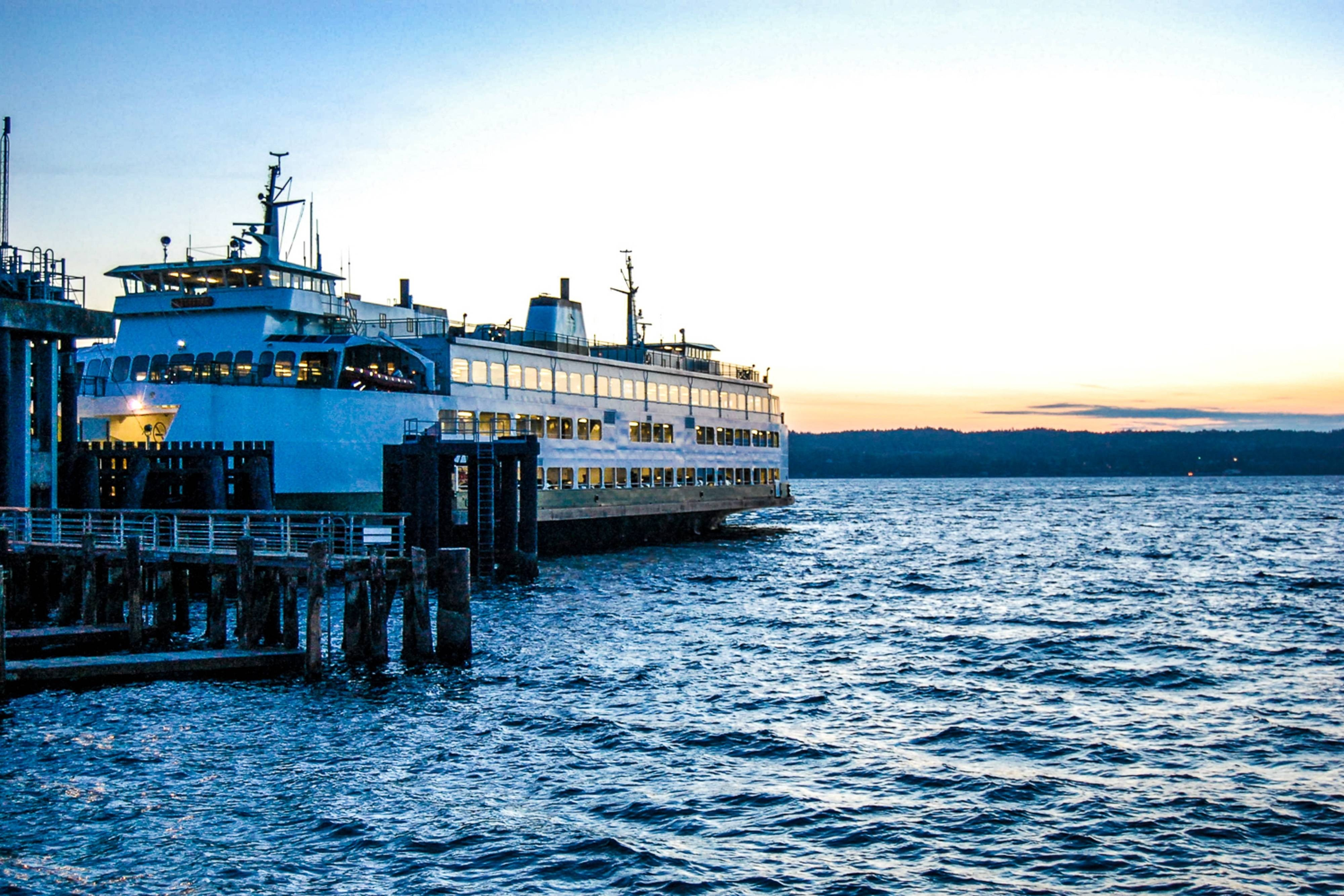 Ferry near TownePlace Suites Mukilteo WA
