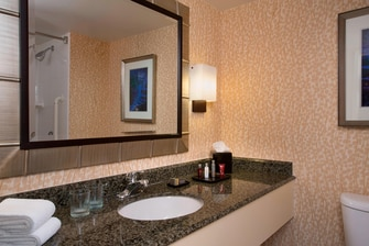 Guest Bathrooms Vanity & Mirror
