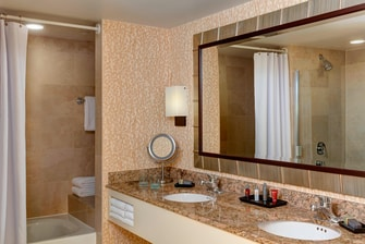 Vanity in Presidential Suite Bathroom