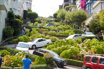 Lombard America's crookedest street
