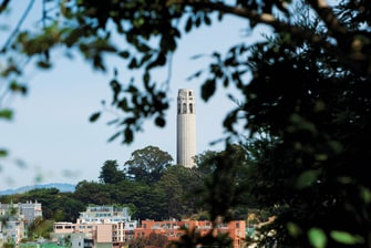 Coit Tower near Courtyard Hotel