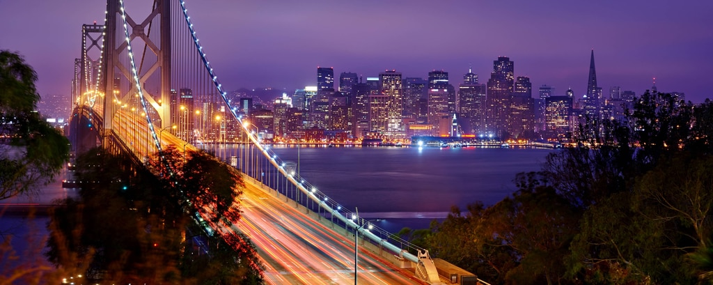 Bay Bridge and City Lights