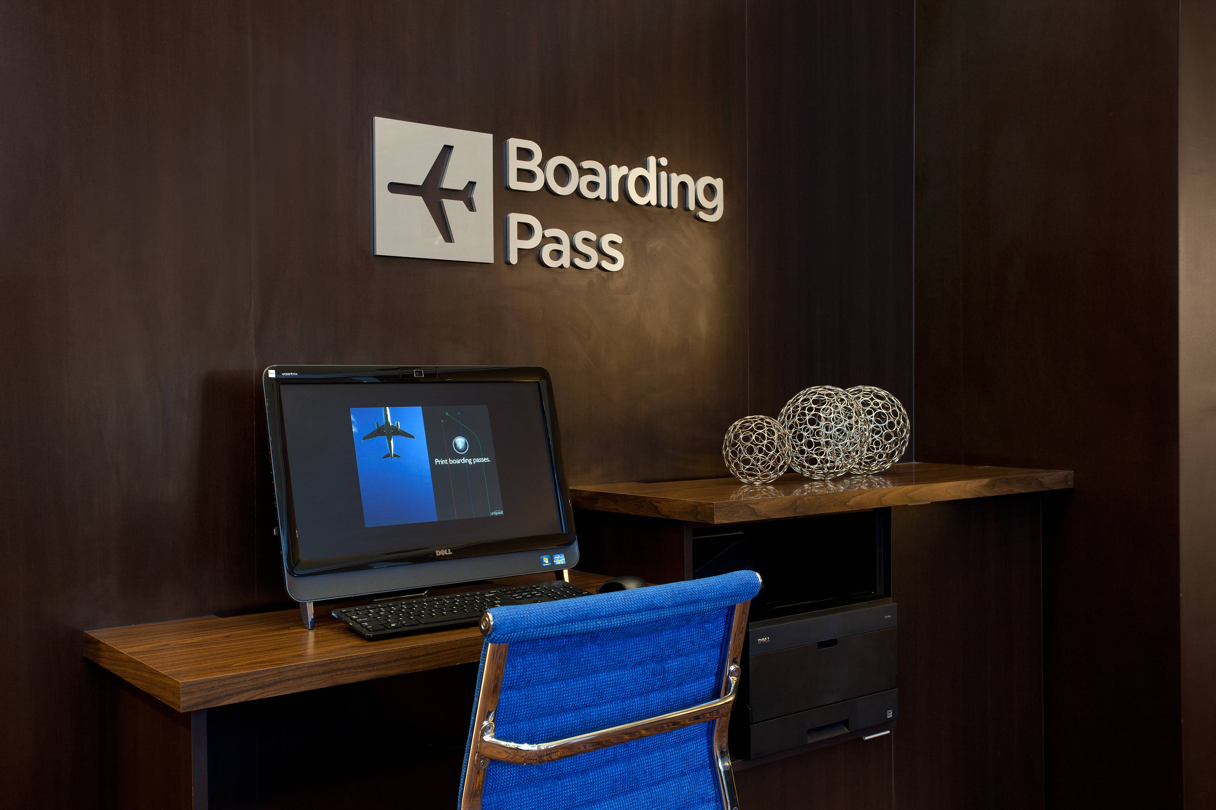 Boarding Pass Printing Station