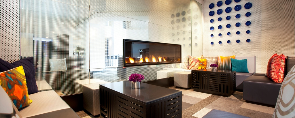 The Living Room - Fireplace
