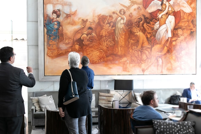 Lobby Lounge Mural Art Collection