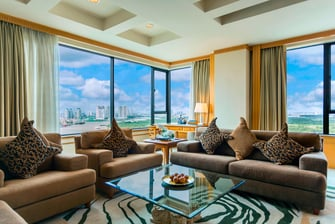 Saigon river view hotel suite