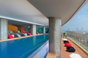 Swimming Pool with special sundeck
