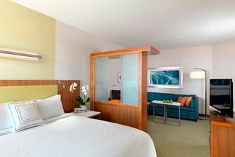 Zona para dormir de la suite King