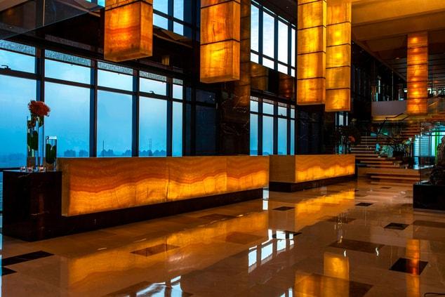 Shanghai hotel lobby
