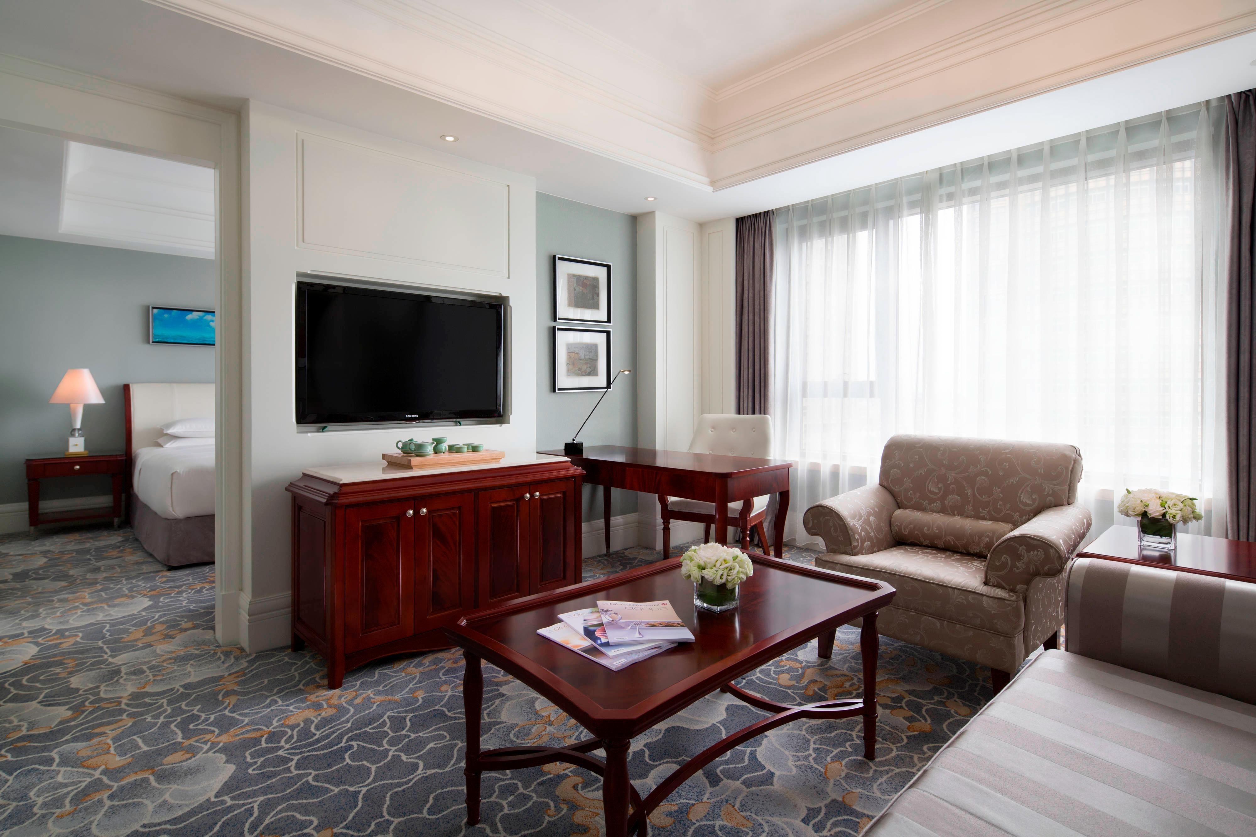 Wohnzimmer der Deluxe-Suite