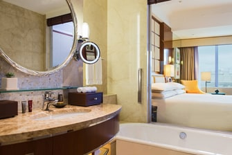 Shanghai Marriott Hotel City Centre,Guest Room, 1 King or 2 Double