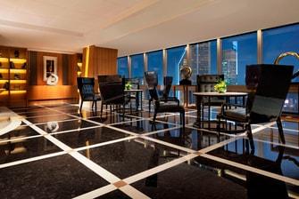 上海のホテルのエグゼクティブラウンジ