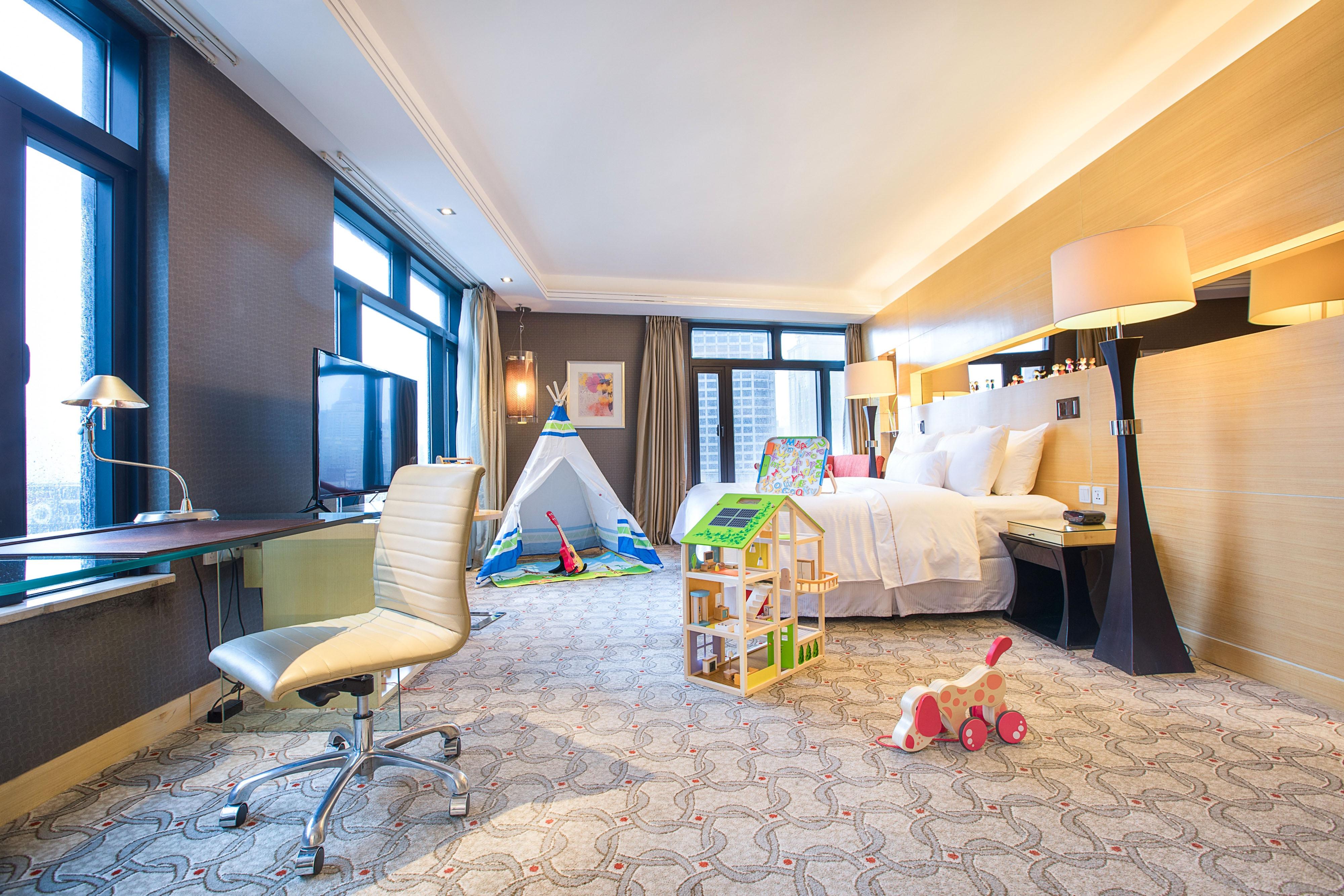 Camera con letto matrimoniale King per bambini