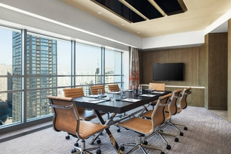 Contemporary Suite with Meeting Room Setup
