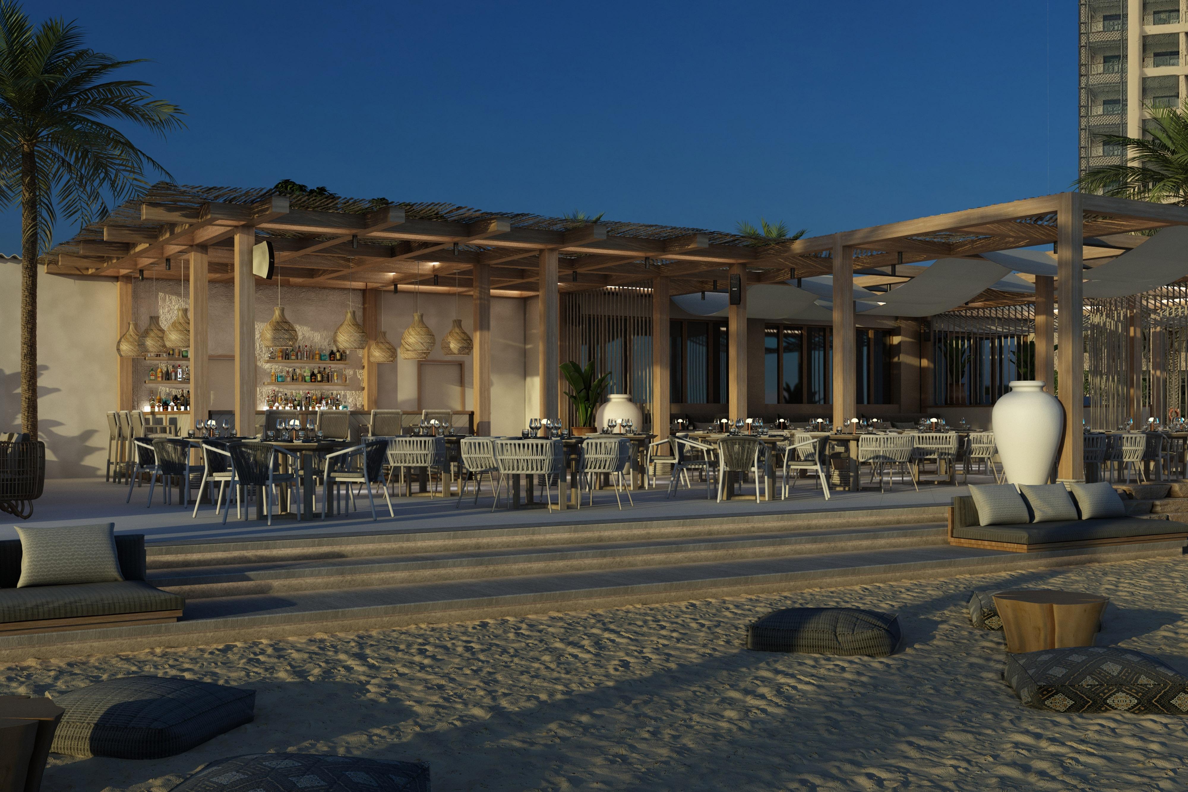 بار شاطئي ومطعم مشويات باب البحر