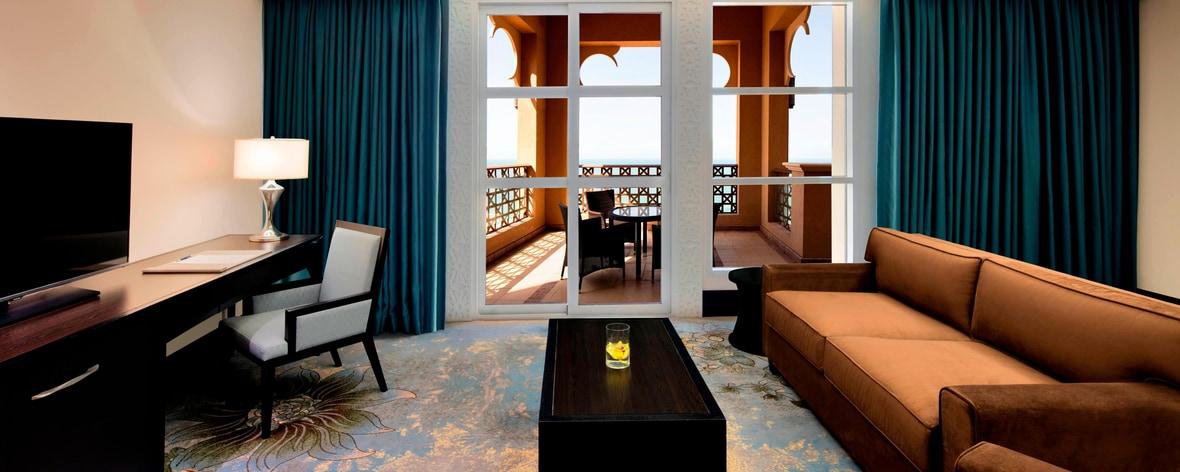 Salle de séjour de la suite Emirati