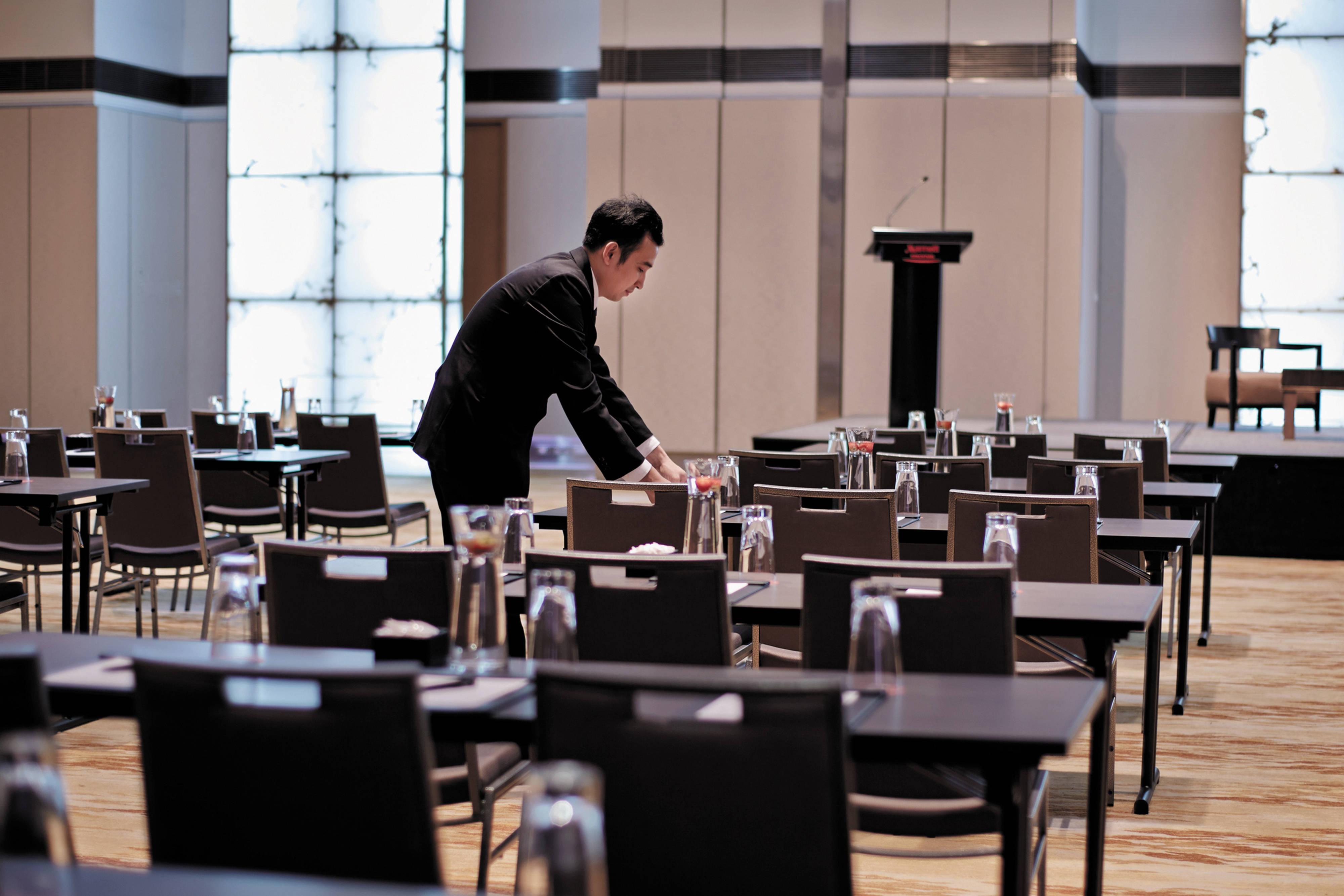 Pillarless ballroom in Singapore