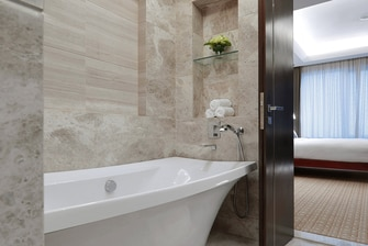 Luxury hotel bathroom in Singapore