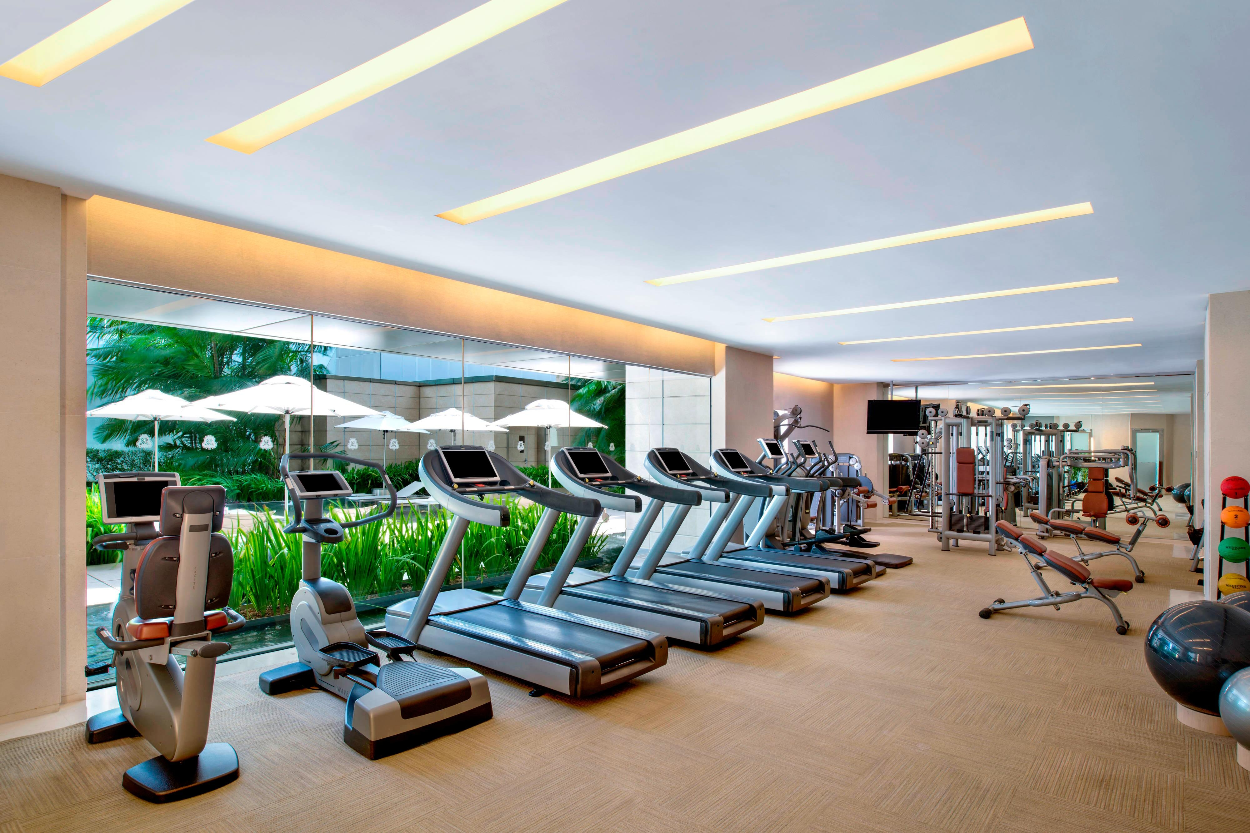Hotel gym recreation the st regis singapore