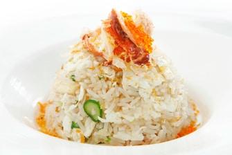 锅煲香米配龙虾和 XO 酱