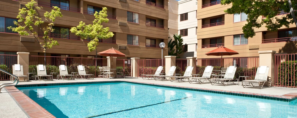San Jose Airport Hotel With Heated Pool Courtyard San Jose Airport