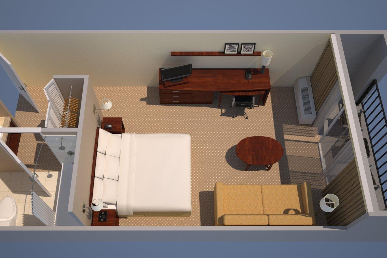 より広いキングの客室