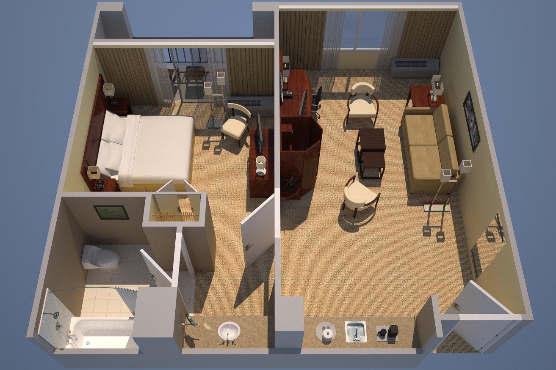 Suite avec lit king size
