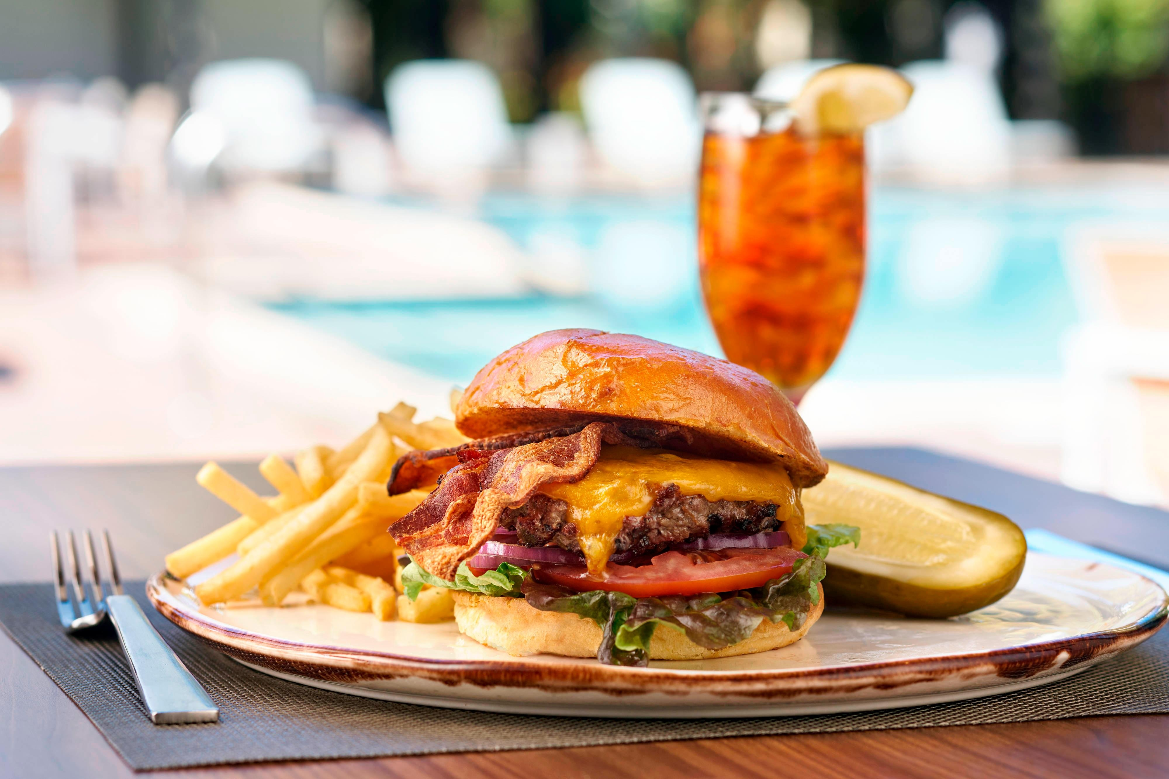 Poolside Grill Burger