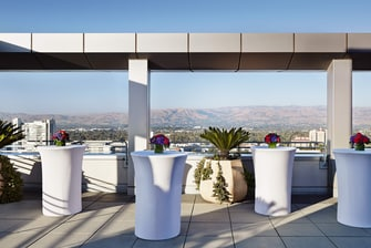Concierge Rooftop Terrace – Reception Setup