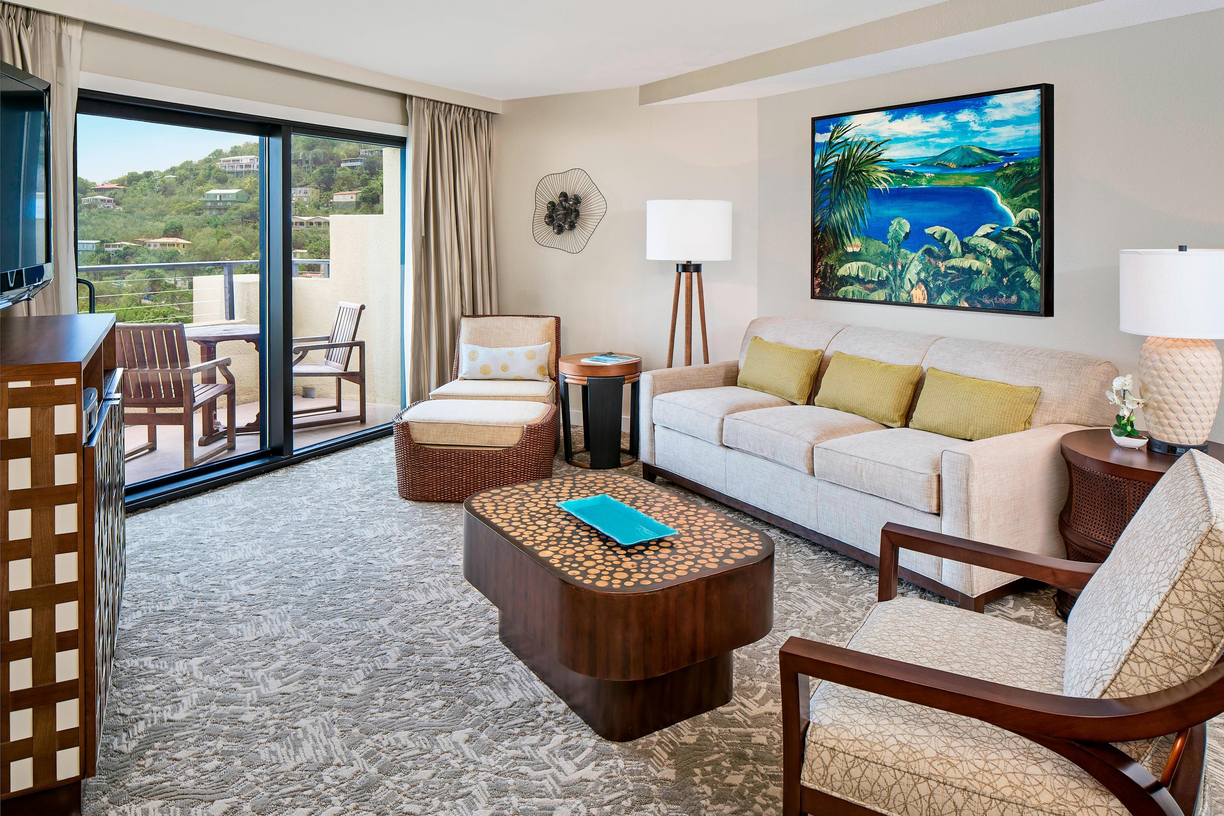 Two-Bedroom Premier Living Area with View