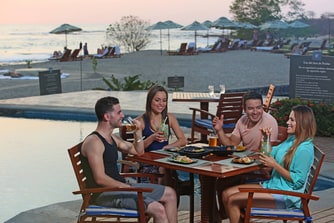 Poolside dining in Costa Rica