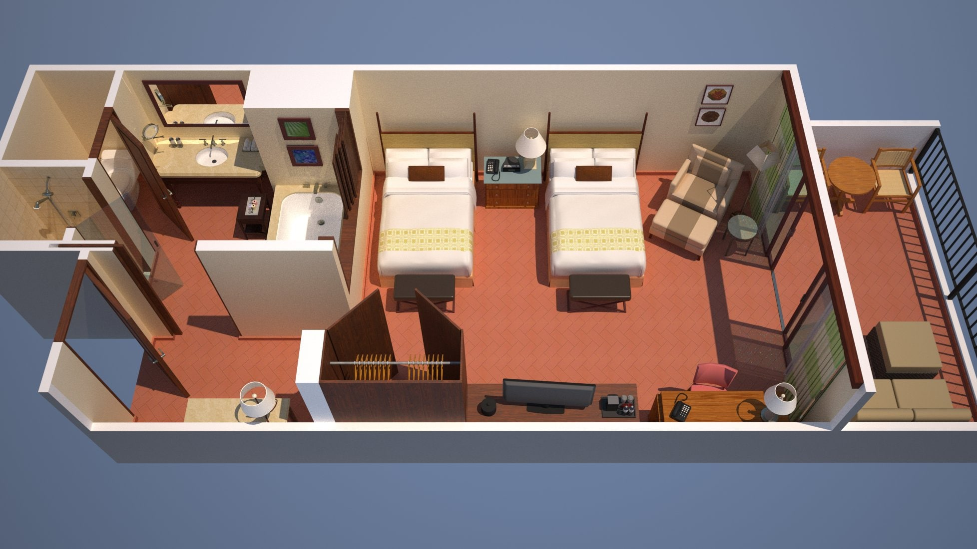 Cost Rica Double Guest Room