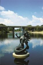 Mermaid Sculpture Holding Freshwater Pearl