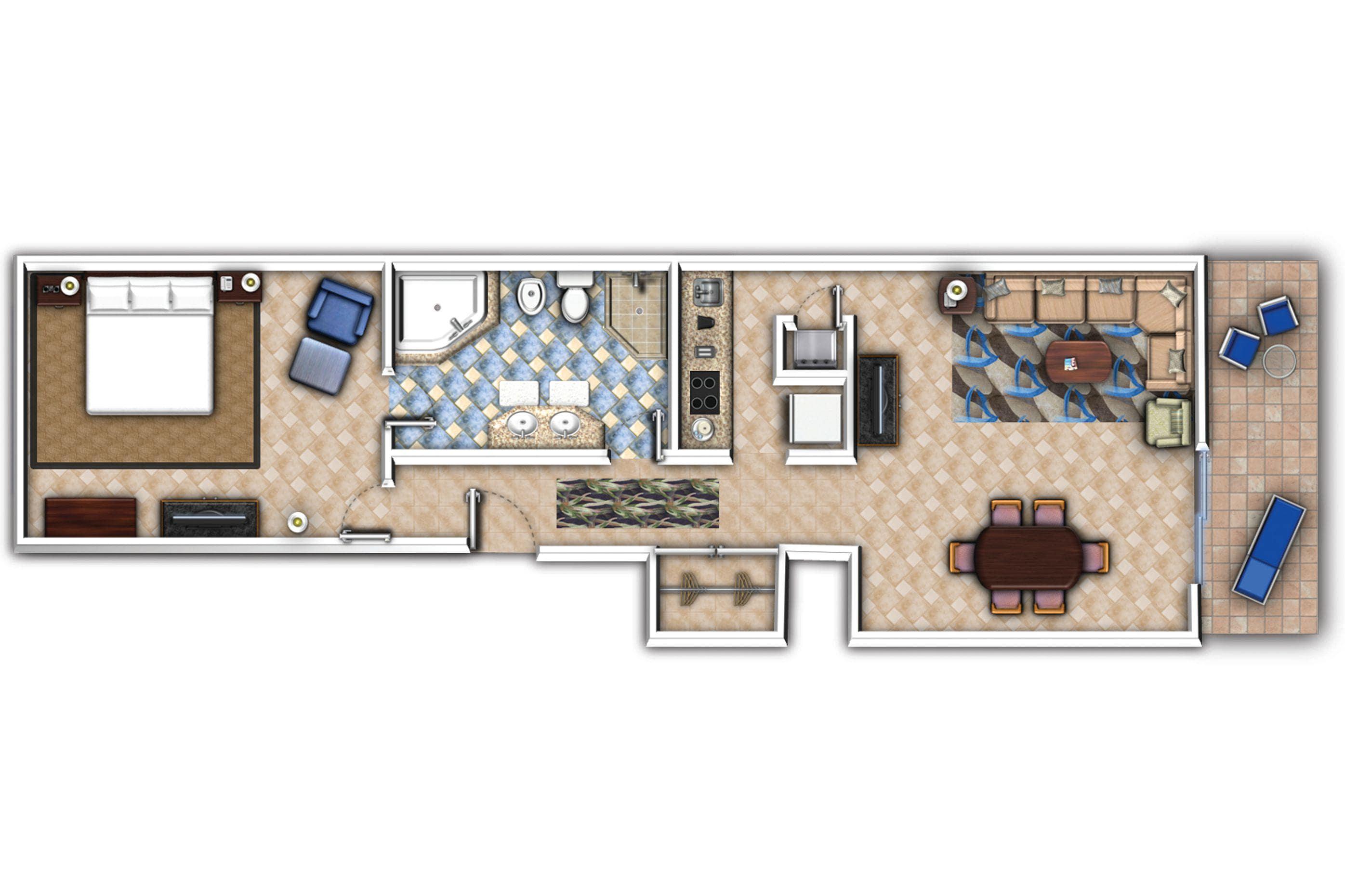 Villa com um quarto