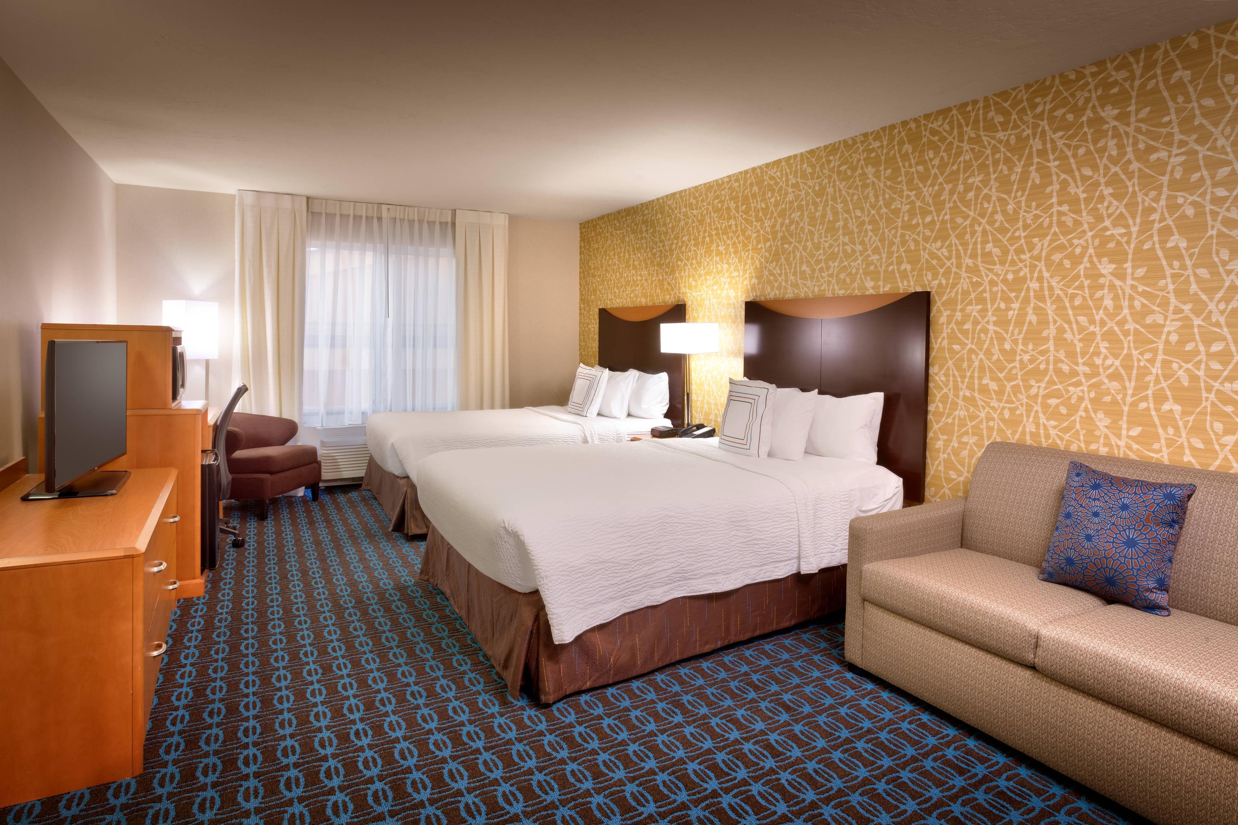 Habitación con dos camas Queen para estancias prolongadas