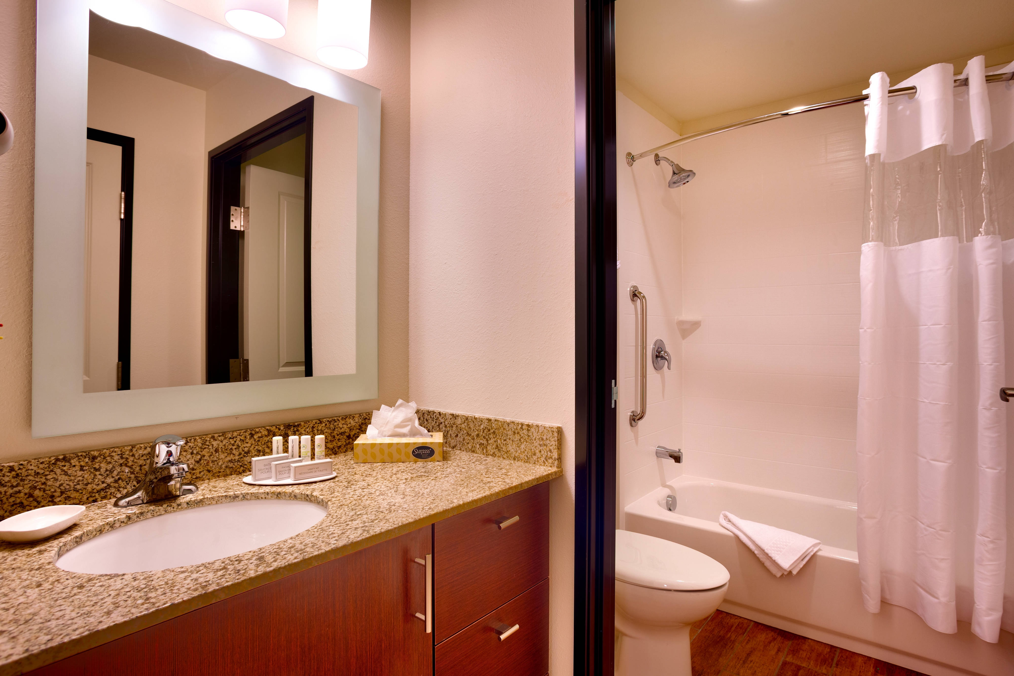 Bathroom with Shower and Bathtub Combo