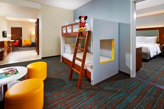 One Bedroom Family Suite with Bunk Beds Springhill Suites at Anaheim Resort/Convention Center