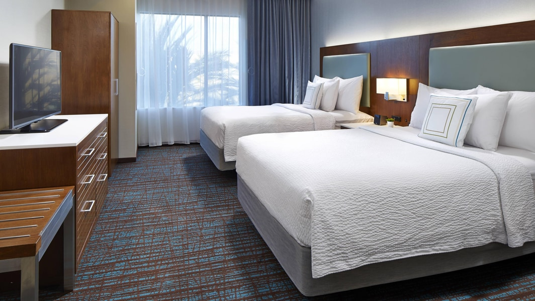 Springhill Suites at Anaheim Resort/Convention Center Studio Queen Bedroom View