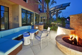 Irvine hotel fire pit