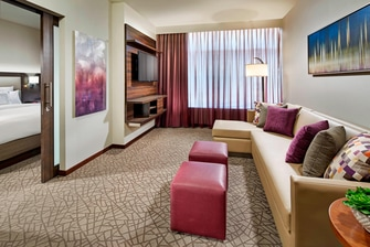 Sala de estar del Residence Inn at Anaheim Resort/Convention Center