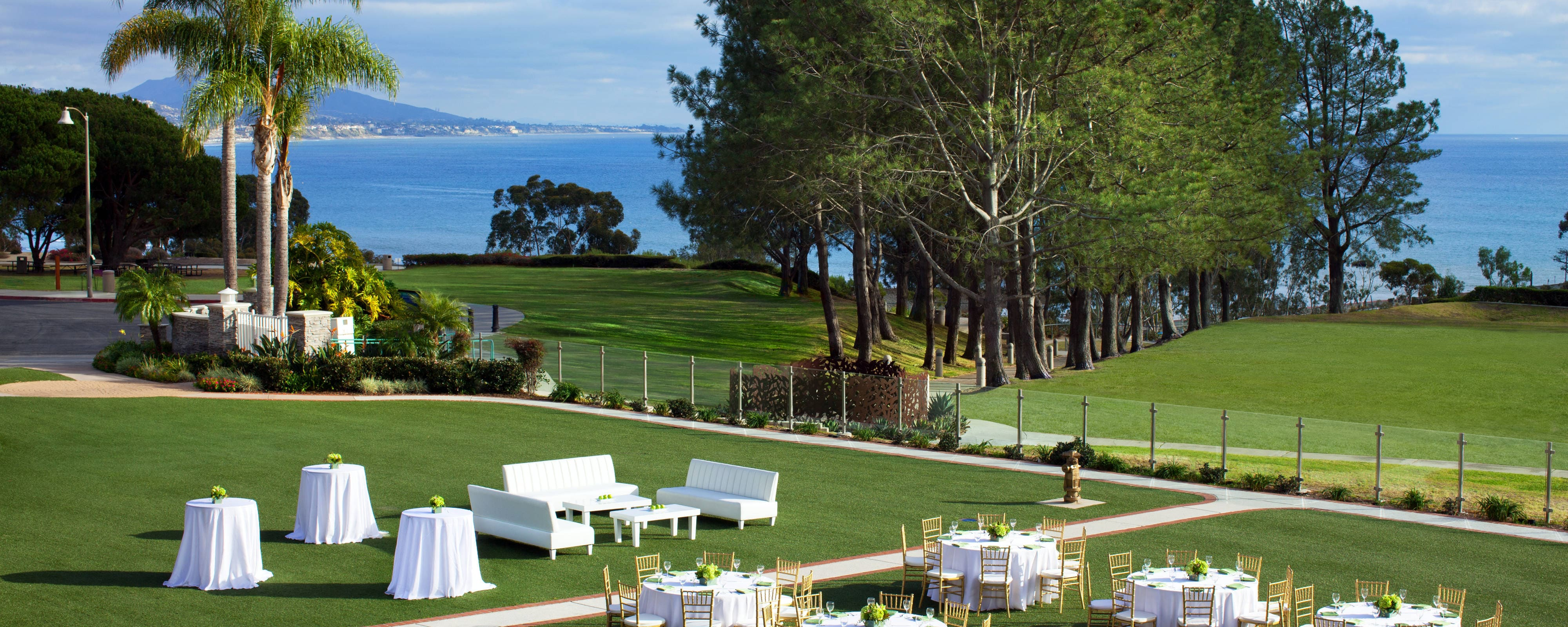Espacio para eventos al aire libre del Laguna Cliffs Marriott Resort & Spa
