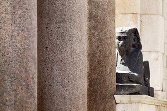 Local area Diocletian's palace roman sphinx
