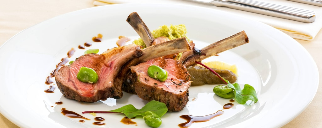 Lamb with Madeira Jus