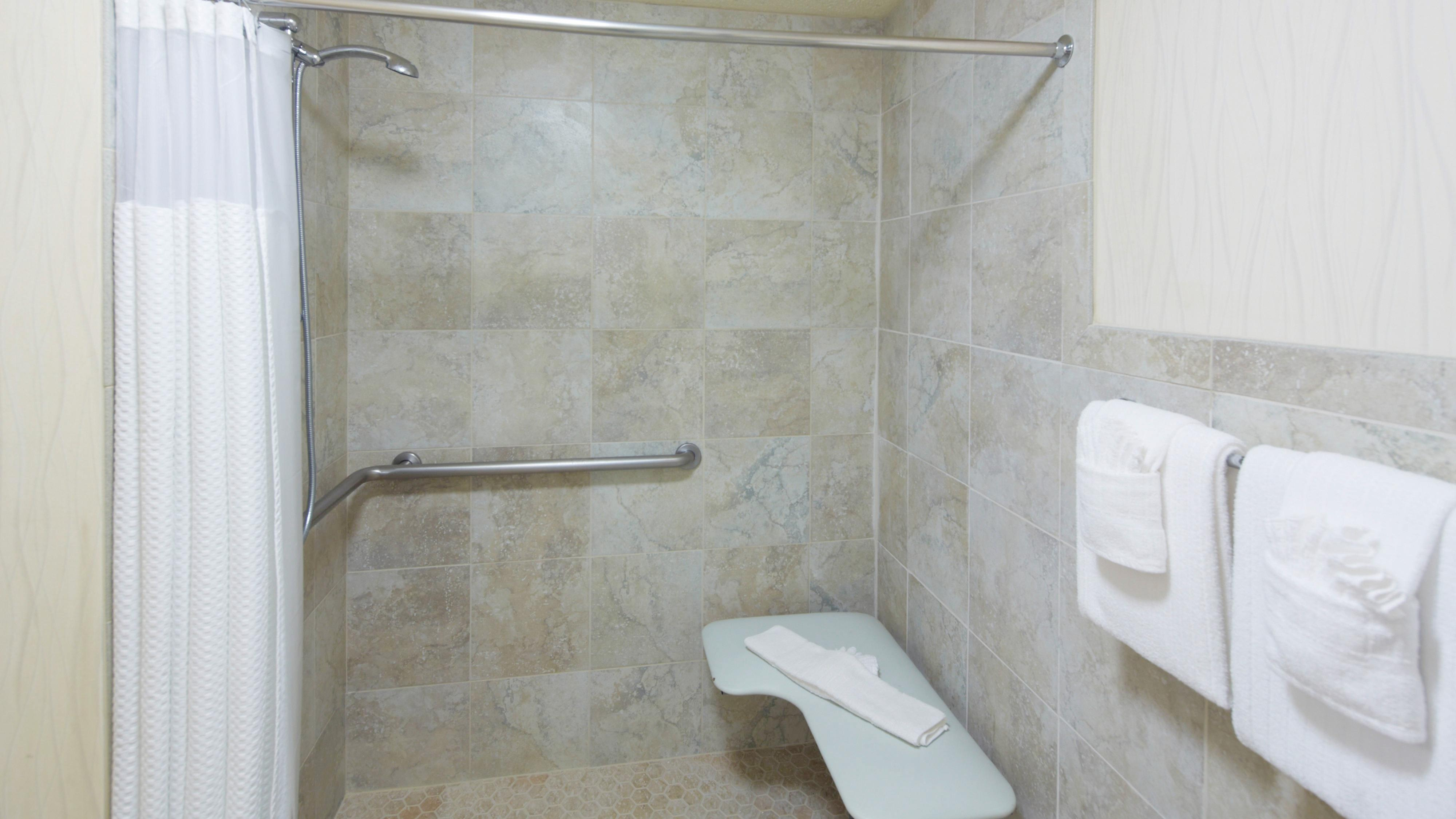 Sarasota hotel roll in shower