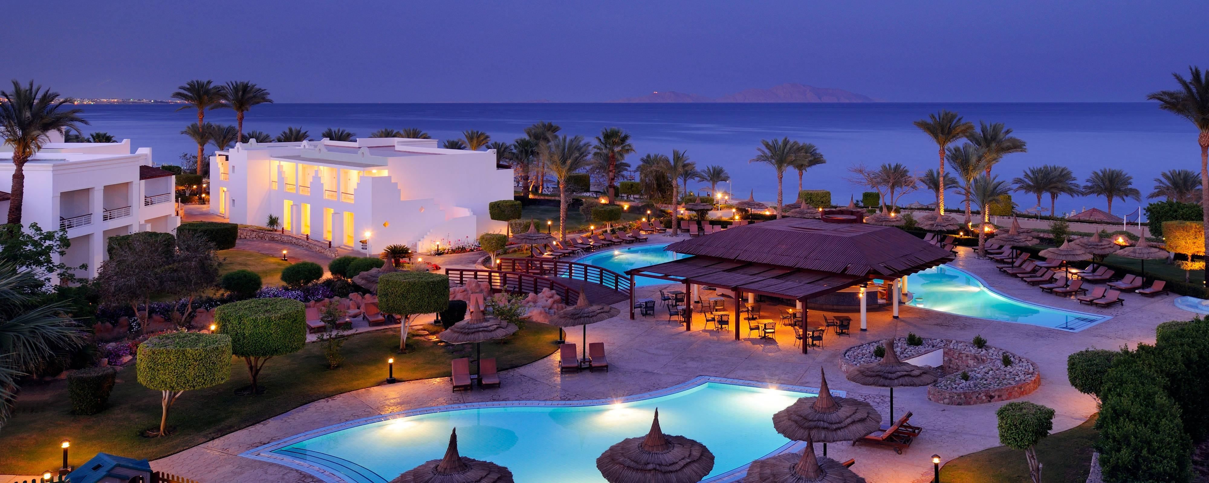 Vue panoramique du coucher du soleil, Renaissance Sharm El Sheikh Golden View Beach Resort