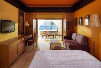 إطلالة جزئية على البحر من غرفة سوبيريور (Superior)