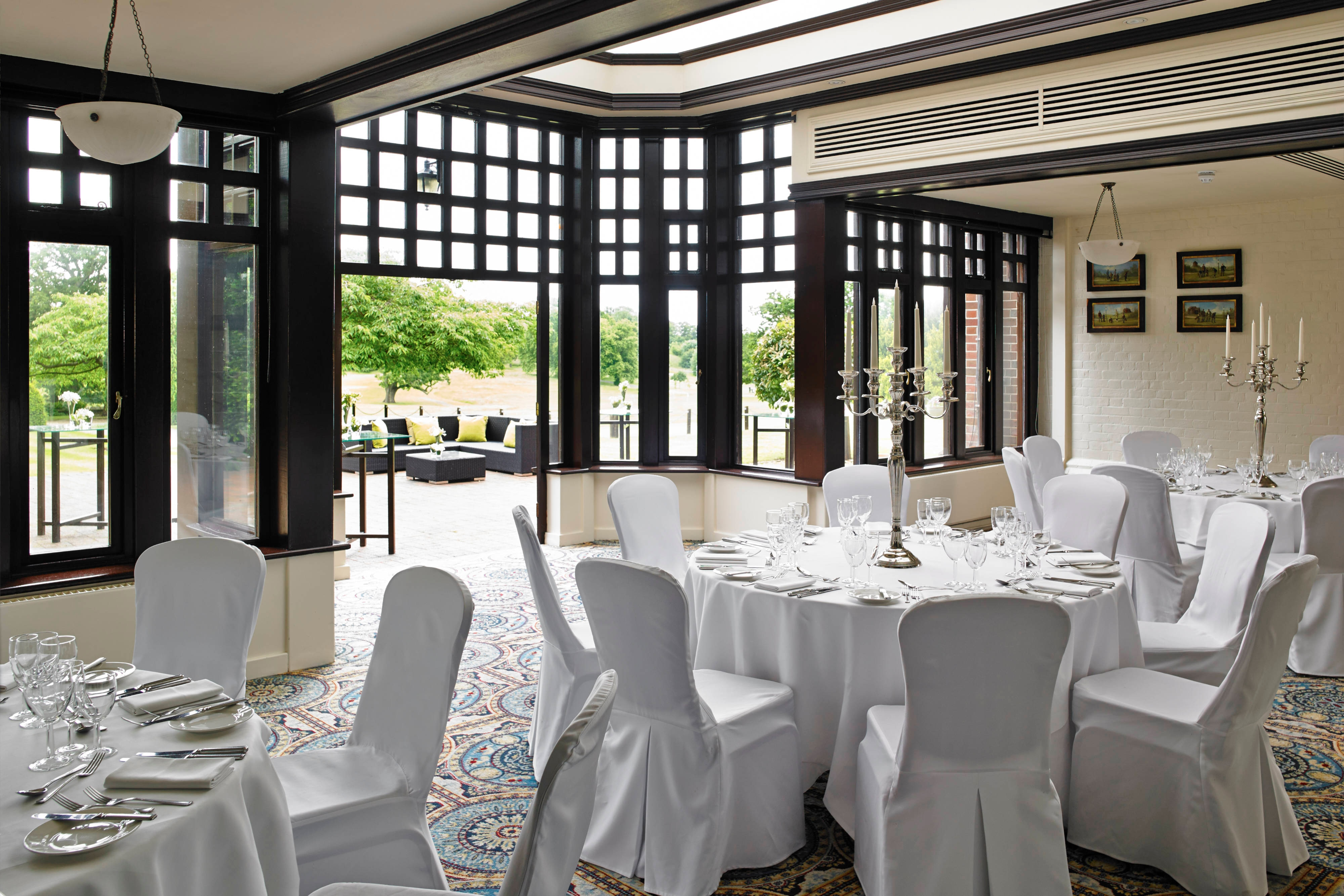 Comedor privado del Hanbury Manor