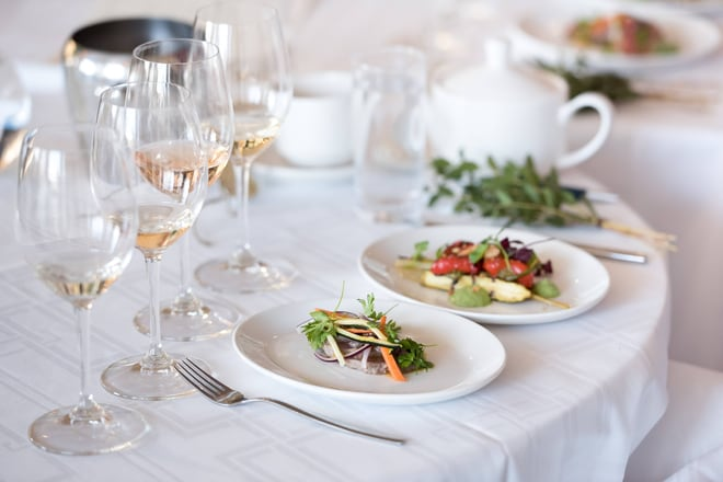 Restaurant Paired Wine and Dishes